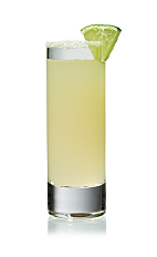 The Citrus Twist Shot is made from Stoli Ohranj orange vodka and grapefruit juice, and served in a chilled shot glass.