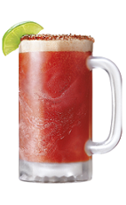 The Clamato Michelada Perfecta is the perfect drink recipe when you are manning the grill, especially if you are a Bloody Mary fan. A red colored drink made from Clamato, Worcestershire sauce, Tabasco sauce, lime and cold beer, and served in a chili-pepper rimmed beer mug.