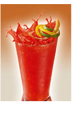 The Clamato Vampirito is a bloody red Halloween drink recipe packed with flavor. Made from Clamato, tequila, Tabasco sauce, lemon-lime soda, basil, lemon and lime, and served over ice in a highball glass.