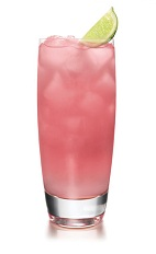 The Cointreau Blush is a pink drink made from Cointreau orange liqueur, pink grapefruit juice, freshly squeezed lime juice and club soda, and served over ice in a highball glass.
