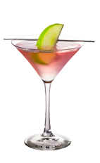 The Cranberry Apple Martini is a pink cocktail made from Smirnoff cranberry vodka, green apple vodka and cranberry juice, and served in a chilled cocktail glass.