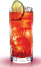 The Cranberry Mandarine is a sweet and tart red colored drink perfect for any summer party. Made from Mandarine Napoleon orange liqueur and cranberry juice, and served over ice in a highball glass.