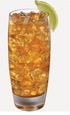 The Daily Palmer drink recipe is made from Burnett's sweet tea vodka and lemonade, and served over ice in a highball glass.