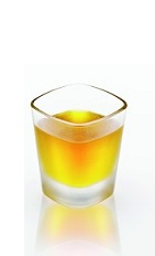 The Disaronno Sambuca is an exotic mix of famous Italian flavors. An orange shot made from Disaronno and sambuca, and served in a chilled shot glass.
