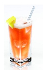 The Disaronno Sling is a classy variation of the standard Singapore Sling drink. An orange drink made from Disaronno, vodka, creme de cassis, lemon and bitter lemon, and served over ice in a highball glass.