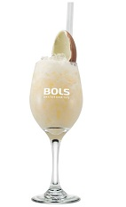 The Easter Egg is a refreshing Spring cocktail perfect for an Easter morning delight. A cream colored cocktail made from Bols Yoghurt liqueur, white creme de cacao and a chocolate egg, and served over ice in a sour glass.
