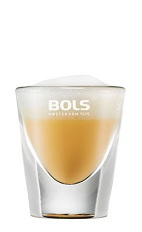 Forget eggnog, the Foamy Advocaat is the perfect shot for any Christmas party. An orange shot made from advocaat egg liqueur and Bols Cacao White Foam liqueur, and served in a chilled shot glass.