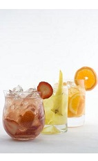 The Fruit Caipirinha recipe allows you to make any caipirinha from your favorite fruit. Made with Leblon cachaca, lime, any other fruit and sugar, and served over ice in a rocks glass garnished with fruit.