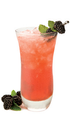 The Gran Berry Smash is a peach colored drink recipe made from Gran Gala Triple Orange liqueur, brandy, mint, lemon juice, simple syrup and blackberries, and served over ice in a highball glass.