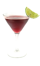 The Grape on the Beach is a red cocktail made from Smirnoff grape vodka, peach schnapps, triple sec, cranberry juice and sour mix, and served in a chilled cocktail glass.