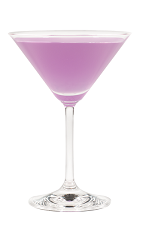 The Harmonie Cosmo is a modern variation of the classic Cosmopolitan cocktail. A purple cocktail made from Hpnotiq Harmonie, citrus vodka, Cointreau and lime juice, and served in a chilled cocktail glass.
