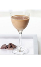 The Hazelnut Martini is a brown colored cocktail made from Bailey's Hazelnut flavored Irish cream, Smirnoff vodka and cocoa, and served in a chilled cocktail glass.