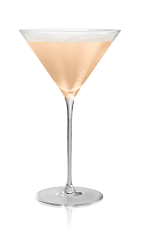 The Karamel Lady is made from Stoli Salted Karamel vodka, egg whites, lemon juice and ginger syrup, and served in a chilled cocktail glass.