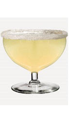 The Margarita Mango is a blended cocktail recipe made from Burnett's mango vodka, triple sec orange liqueur and sweet & sour mix, and served in a chilled margarita glass.