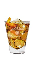 The Old Fashioned Almond Jameson is a great Saint Patrick's Day cocktail mixing old techniques with new flavors. An orange drink made from Jameson Irish whiskey, caramel vodka, simple syrup and orange bitters, and served over ice in a rocks glass.