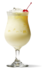 The Pina Colada is one of the classic tropical drinks. Made from white rum, coconut milk and pineapple, and served in a hurricane glass.
