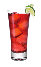 The Red Passion is a red colored drink made from Smirnoff Passionfruit vodka, cranberry juice and lime, and served over ice in a highball glass.
