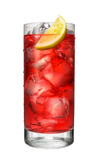The Redhead is a red-colored drink made from Smirnoff strawberry vodka, grenadine, cranberry juice and lemon, and served over ice in a highball glass.