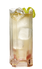 The Rio Bravo drink recipe is a blend of Mexican flavors perfect for Cinco de Mayo, or any day of the year. A pink colored drink made from Lunazul reposado tequila, Sombra mescal, lime juice, simple syrup, strawberries, bitters and ginger ale, and served over ice in a highball glass.