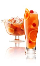 Champagne Punch With Raspberry And Orange Liqueur Recipe ...