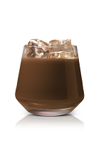 The Salted Black Russian drink is made from Stoli Salted Karamel vodka, coffee liqueur and light cream, and served in an old-fashioned glass.