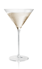 The Salted Karameltini cocktail is made from Stoli Salted Karamel vodka and Scotch whiskey, and served in a chilled cocktail glass.