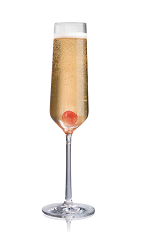 The Salted Kir Royale is a modern variation of the classic Kir Royale drink. Made from Stoli Salted Karamel vodka, champagne and raspberry liqueur, and served in a chilled champagne flute.