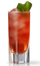 The Tuscan Sunset is a relaxing red colored drink perfect for watching the sun set in the Tuscan hills of Italy. Made from Martin Miller's gin, Antica Formula vermouth, lime juice, maraschino liqueur, bitters and ginger ale, and served over ice in a highball glass.