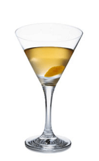 Tyrni is the Finnish word for buckthorn, a fitting name for this cocktail recipe. The Tyrni Martini is made from Lapponia Buckthorn liqueur, dry vermouth and lime juice, and served in a chilled cocktail glass garnished with orange peel.