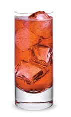 The Vanilla Apples is an orange drink made from sour apple schnapps, vanilla liqueur, grenadine, sour mix and club soda, and served over ice in a highball glass.