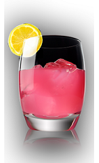 The X on the Rocks is a pink colored cocktail recipe made form X-Rated Fusion liqueur and orange, and served over ice in a rocks glass.