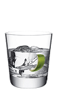 The 57 on the Rocks is a clear colored drink made from Smirnoff vodka and lime, and served over ice in a rocks glass.