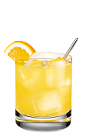 The 57 Screwdriver is and orange colored drink made from Smirnoff vodka, orange juice and an orange slice, and served over ice in a rocks glass.