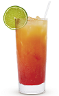 The 9 Punch is an orange colored drink recipe made from Cruzan 9 spiced rum, orange juice and cranberry juice, and served over ice in a highball glass.