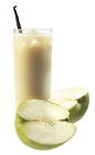 The Accelerator drink recipe combines unique flavors and ideas to create one of the perfect cocktail recipes. Made from Chymos apple-vanilla liqueur, banana yogurt, milk and apple juice, and served over ice in a Collins glass garnished with a vanilla bean.