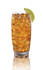 The Admiral and Ginger drink recipe is made from Admiral Nelson's spiced rum, lime and ginger ale, and served over ice in a highball glass.