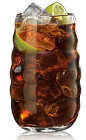 The Bacardi Cuba Libre is a drink made famous in South Florida, as a reminder that Cuba was once free, and it can be free again some day. A brown drink made from Bacardi golden rum and coke, with lime for garnish, and served over ice in a highball glass.