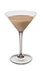 The Bailey's Vanilla Martini is a brown colored cocktail made from Bailey's Irish cream and Smirnoff vanilla vodka, and served in a chilled cocktail glass.