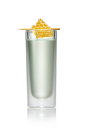 The Bee's Knees Shot is made from Stoli Sticki honey vodka, honey and lemon juice, and served in a chilled shot glass.