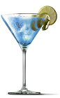 The Berry White cocktail recipe is a sexy blue colored drink made from UV Blue raspberry vodka, white crème de cacao, triple sec and lime juice, and served in a chilled cocktail glass.