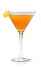 The Black Diamond is an orange colored cocktail made from New Amsterdam vodka, sweet vermouth, lemon juice and maple syrup, and served in a chilled cocktail glass.