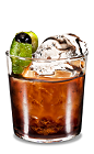 The Black Russian Lime is a simple re-mix of the classic Black Russian drink. Made from Kahlua coffee liqueur, vodka and lime, and served in an old-fashioned glass.