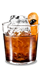 The Black Russian Orange is a modern variation of the classic Black Russian drink. Made from Kahlua coffee liqueur, vodka and orange, and served in a rocks glass over ice.