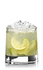 The Caipirissima is a classic Brazilian cocktail made from rum, lime, sugar and crushed ice, and served in a rocks glass.