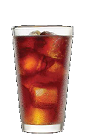 The Cake and Cola drink recipe is a brown colored cocktail made from Three Olives iced cake vodka and cola, and served over ice in a highball glass.