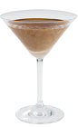 The Caramel Star cocktail recipe is a brown colored drink made from Kamora coffee liqueur, butterscotch schnapps and vodka, and served in a chilled cocktail glass.