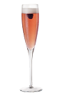 The Chambord and Champagne cocktail is made from an elegant mix of Chambord raspberry liqueur and champagne, and served in a chilled champagne glass.