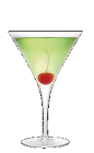 The Cherry Apple Martini cocktail recipe is a green colored drink made from Three Olives cherry vodka, Apple Pucker schnapps and lime juice, and served in a chilled cocktail glass.