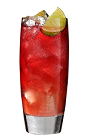 The Cherry Pomegranate Lemonade is a red drink made from Southern Comfort cherry, pomegranate juice and lemonade, and served over ice in a highball glass.