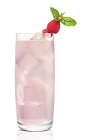 The Chocolat Sweet Tart drink is made from Stoli Chocolat Kokonut vodka, raspberries, lime juice and simple syrup, and served over ice in a highball glass.